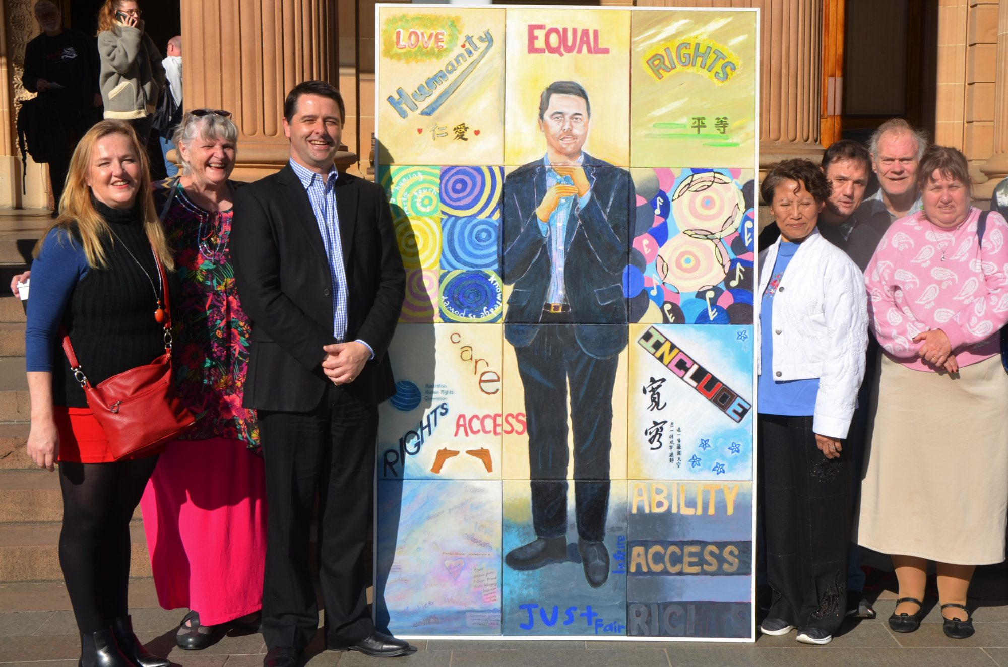 SCS Art Group submitting their portrait for the Archibald Prozed
