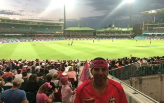 Photo of Adam at cricket game